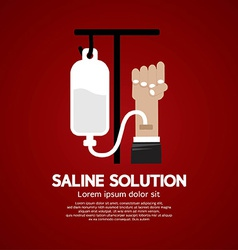 Saline Solution Medical Concept vector