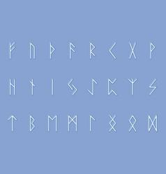 set of ancient norse runes runic alphabet vector image