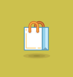 Shopping bag on light green vector