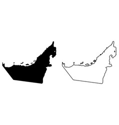 simple only sharp corners map united arab vector image