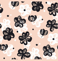 spring flowers hand drawn seamless pattern vector image
