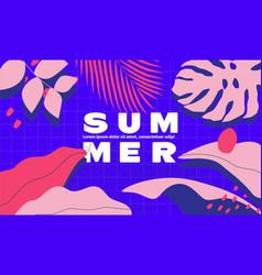 summer time banner or background design template vector image