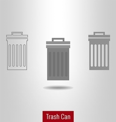 Trashcan icon set vector image