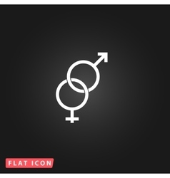 Twisted male and female sex symbol vector image