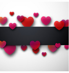 valentine s background with hearts vector image
