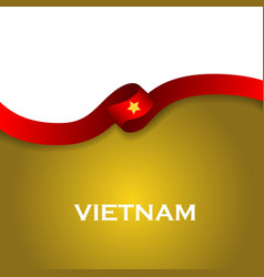 Vietnam sport style flag ribbon classic style vector