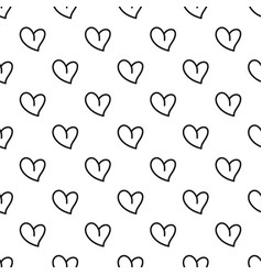 white heart pattern seamless vector image