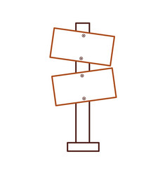 wooden blank warning sign board vector image
