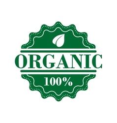 Bio organic label vector image