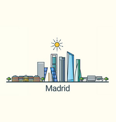 flat line madrid banner vector image