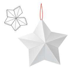 paper star gift vector image