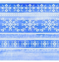 seamless knitted pattern with snowflakes vector image vector image