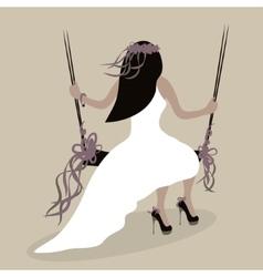Wedding style bride vector image