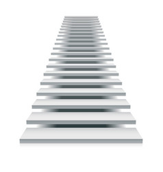white staircase vector image