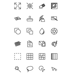 Art Design and Development Icons 2 vector image vector image
