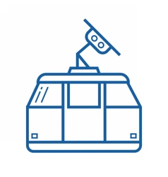 Funicular or Cable Car Icon vector image vector image