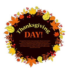 Thanksgiving Autumn vector image