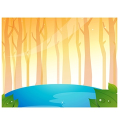 Tree Woods and Pond vector image