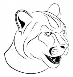 cougar tattoo vector image vector image