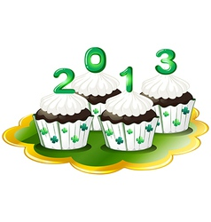 Cupcakes for 2013 vector image