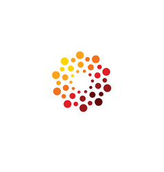 Innovation abstract unusual isolated round vector