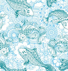 Seamless pattern in the style of mehendi vector image vector image