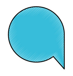 silhouette of colored pencils of speech bubble vector image