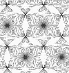 Slim gray linear stripes rhombus flowers vector image