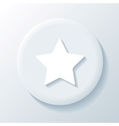 Star 3D Paper Icon vector image vector image