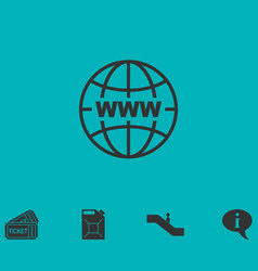 world wide web icon flat vector image vector image
