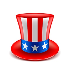 American hat isolated on white vector image