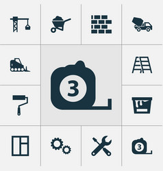 Construction icons set collection of paint bucket vector