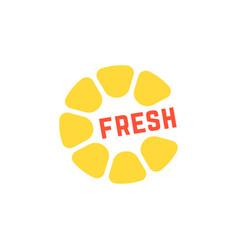 simple yellow fresh juice logo vector image vector image