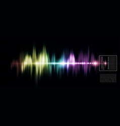 Abstract background with a colored sound wave on vector
