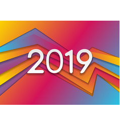 abstract colorful corporate new year 2019 vector image