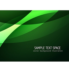 abstract green wave background vector image