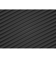 Abstract tech black diagonal stripes background vector