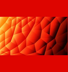abstract triangulated background orange vector image