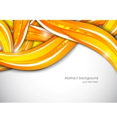 Abstract wavy orange background vector image