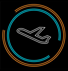 aeroplane icon - airplane vector image