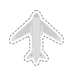 airplane travel business vacation cut line vector image