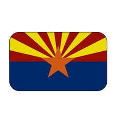 arizona flag icon vector image