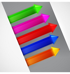 arrow bookmark set vector image