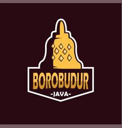 borobudur vector image