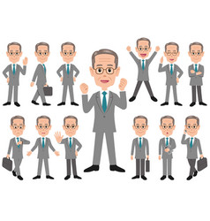 businessman in different poses vector image