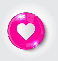 button love color pink glossy vector image