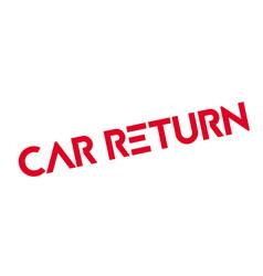 Car return rubber stamp vector