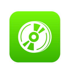 cd icon green vector image