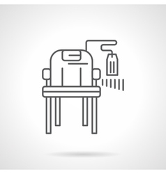 Chair with price tag flat line icon vector image