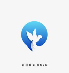 circle bird template vector image